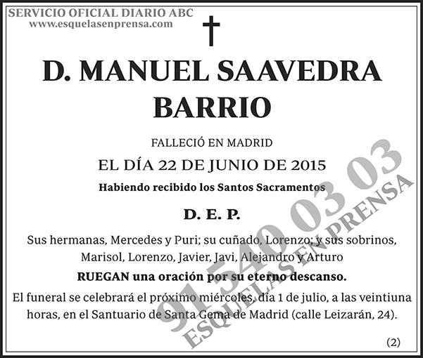 Manuel Saavedra Barrio